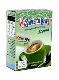 ساشه شیرین کننده استویا 100تایی SWEET N LOW